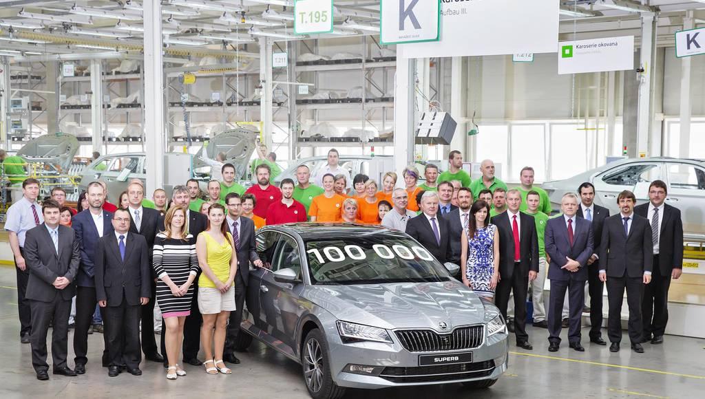 Skoda Superb production reaches 100.000 units