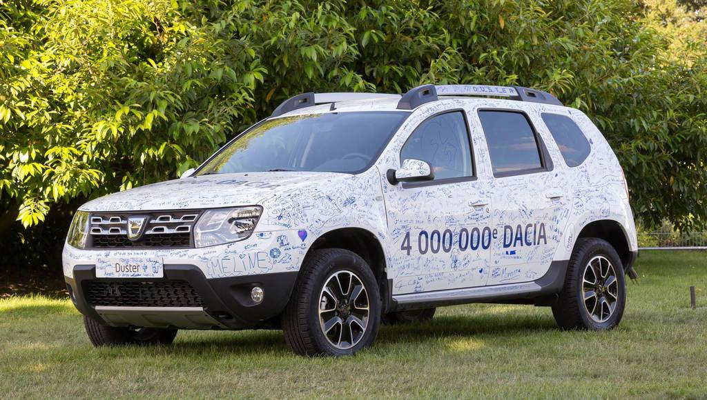 Dacia reaches its 4 millionth car sold