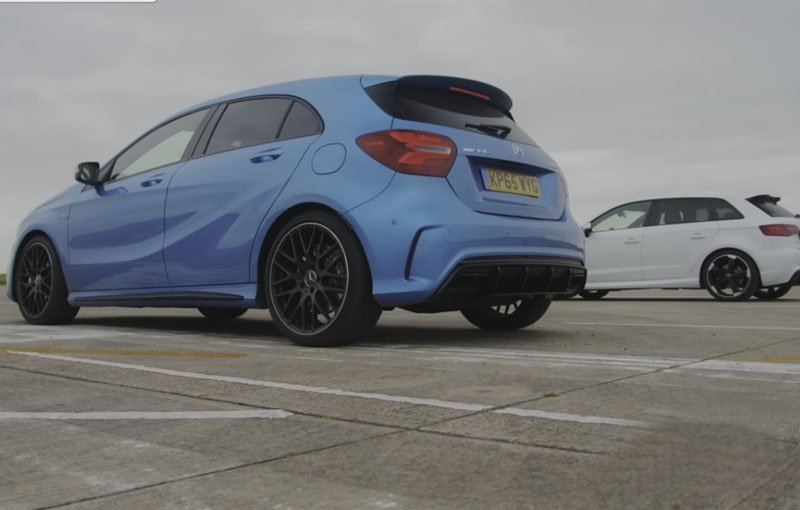 Drag battle: Mercedes A45 AMG vs Audi RS3