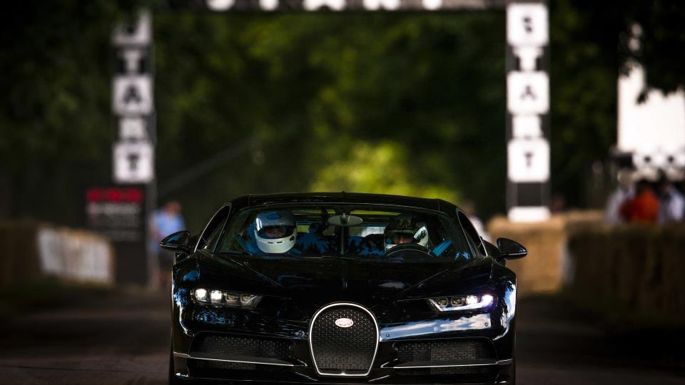 Lord March becomes first man to drive the Bugatti Chiron