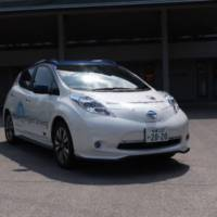 Nissan Leaf demonstrated the ProPilot function