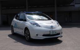 Nissan Leaf demonstrated the ProPilot function