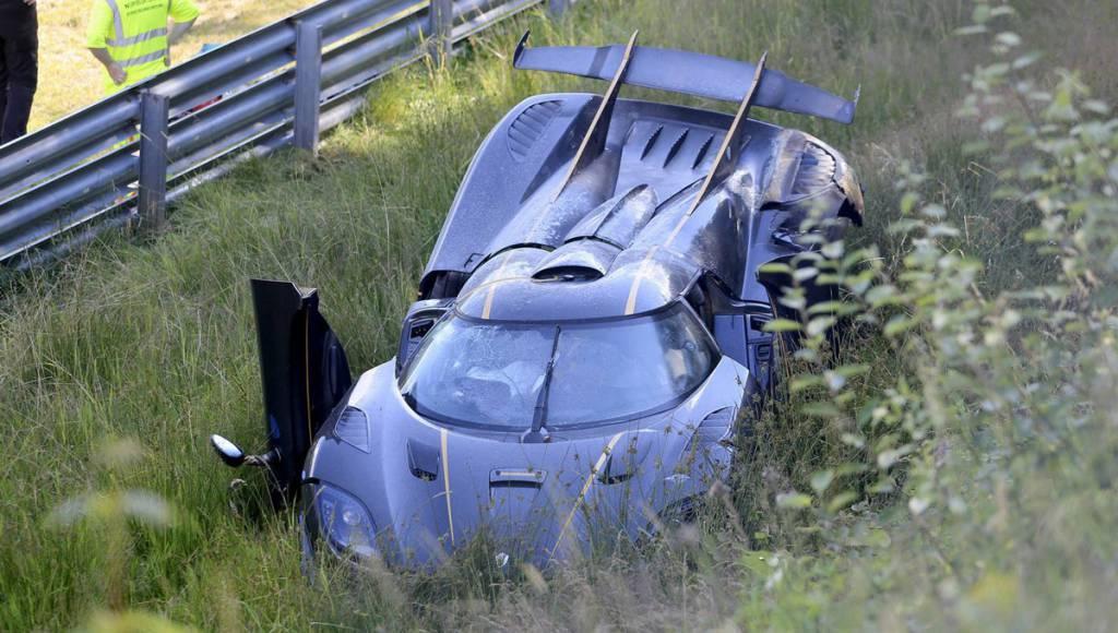 Koenigsegg One:1 crashed on the Nurburgring