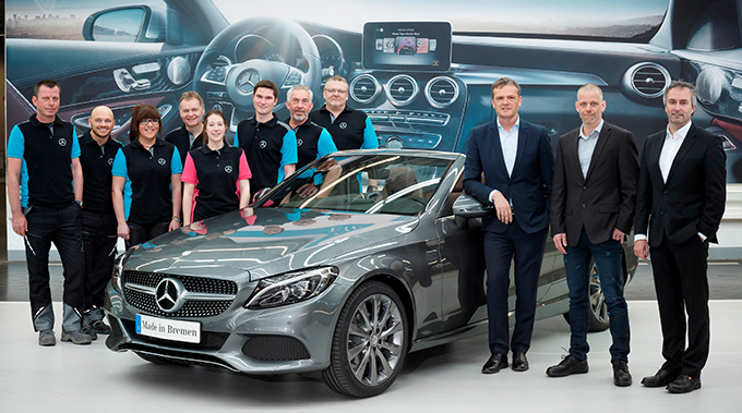 The first Mercedes-Benz C-Class Cabriolet rolled off the assembly line