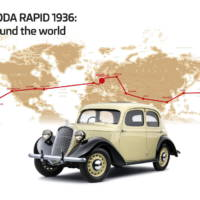 80 anniversary for Skoda Rapid's trip around the world