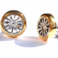 These Bugatti wheel cufflinks are actual made from Veyron wheel