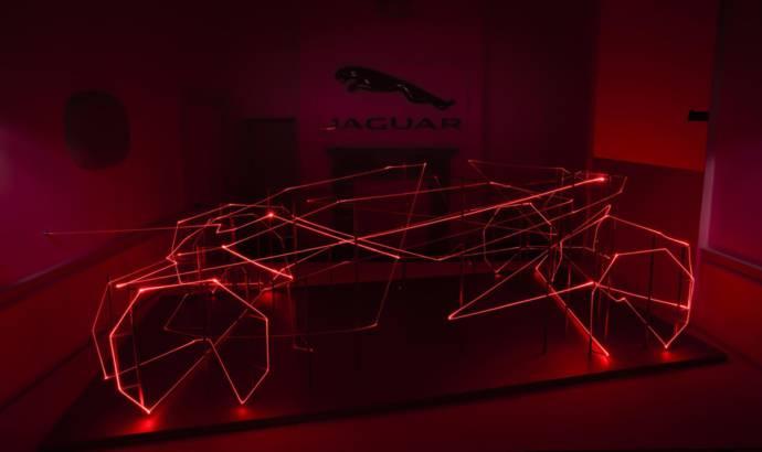 Jaguar design detailed in futuristic laser sculpture