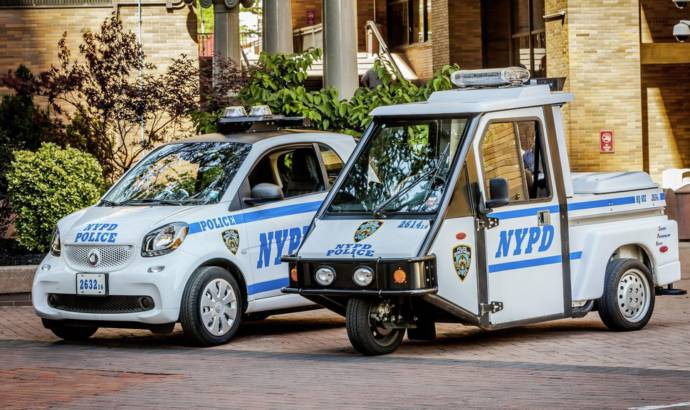 NYC Police Department has a fleet of Smart ForTwos