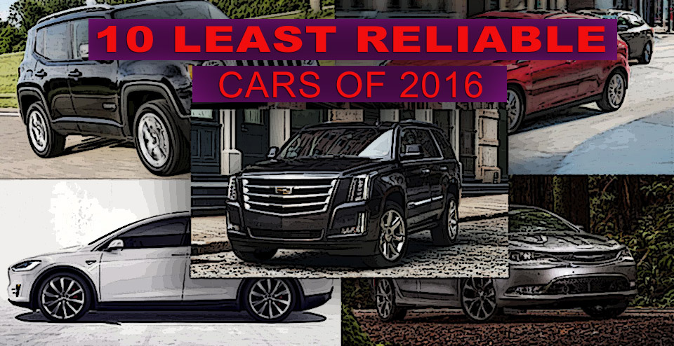 Consumer Reports - Top 10 least reliable vehicles