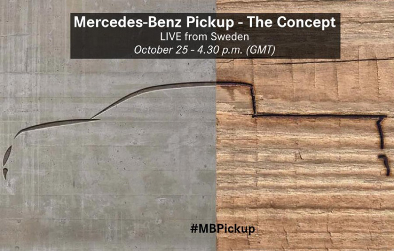 Mercedes-Benz pick-up is coming on October 25