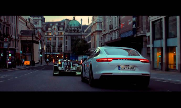Porsche Panamera 4 E-Hybrid rides along the 919 Hybrid through London
