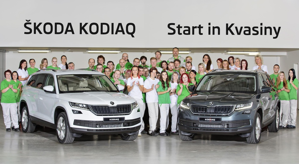 Skoda Kodiaq enters production in Kvasiny