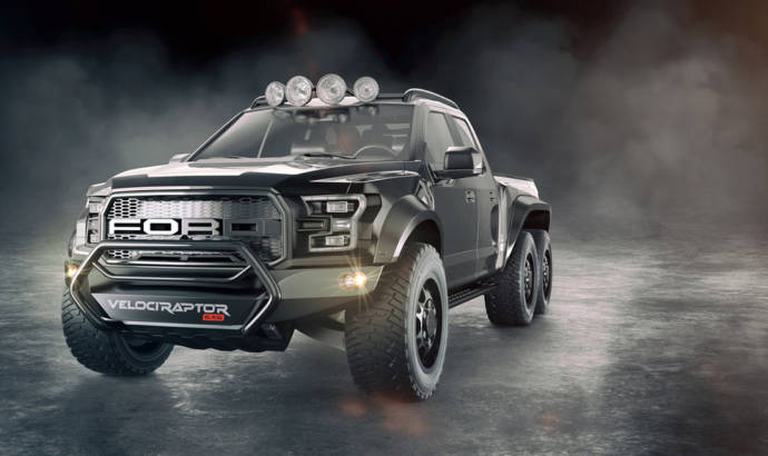 This is the upcoming Hennessey VelociRaptor 6X6