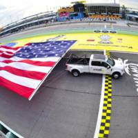 2017 Ford F-450 Super Duty sets record for towing a flag