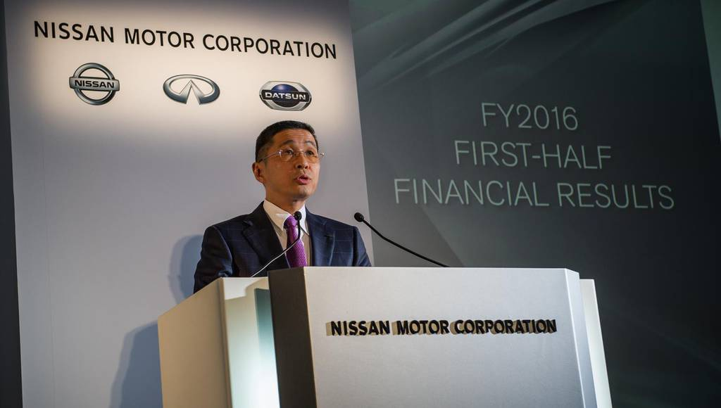 Nissan announced its first half results for fiscal year 2016