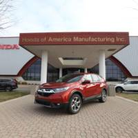 2017 Honda CR-V production starts in Ohio