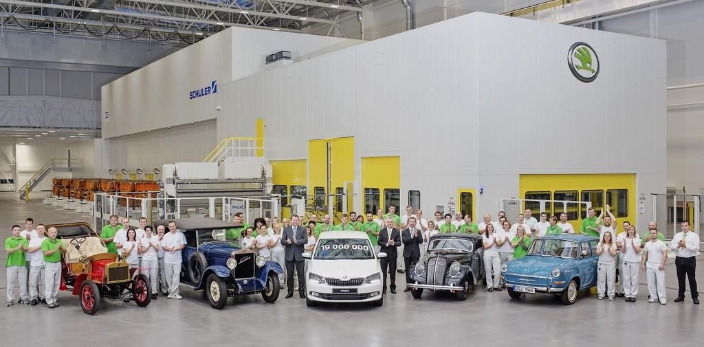 Skoda produces 19 millionth car