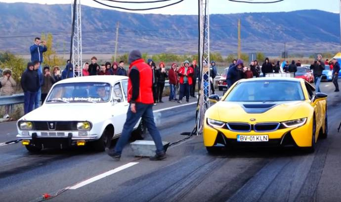 Modified Dacia 1300 tackles a BMW i8