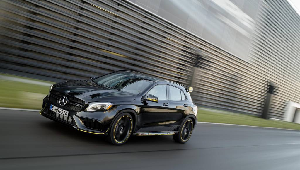 2017 Mercedes GLA WhiteArt Edition and Yellow NightEdition launched