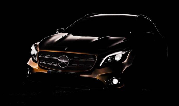 2018 Mercedes-Benz GLA facelift - First teaser picture
