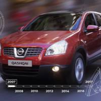 Nissan will celebrate 10 years since the launch of the new Qashqai