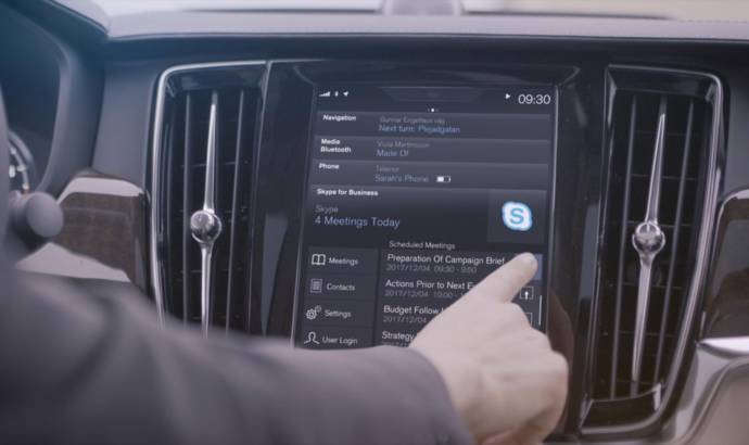 Volvo introduces Skype app for XC90, S90 and V90