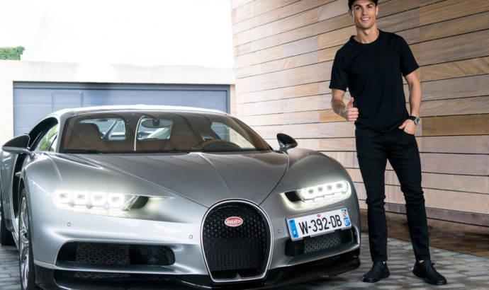 Cristiano Ronaldo test drives the Bugatti Chiron