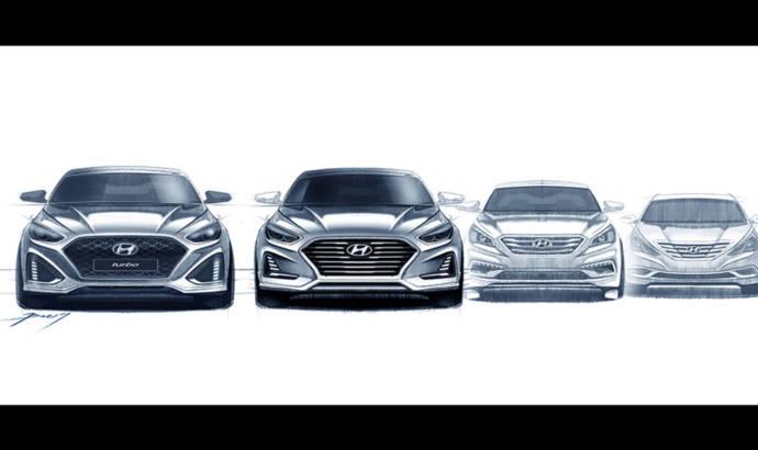 Hyundai Sonata facelift - First design sketches