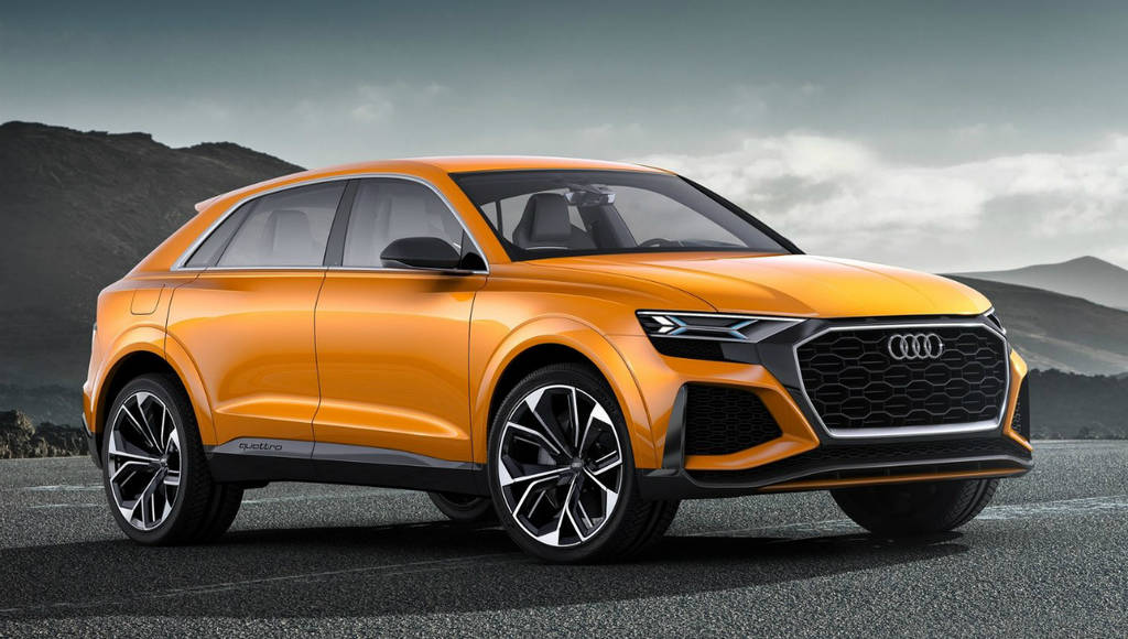 Audi Q8 Sport Concept is a 474 HP hybrid SUV-coupe