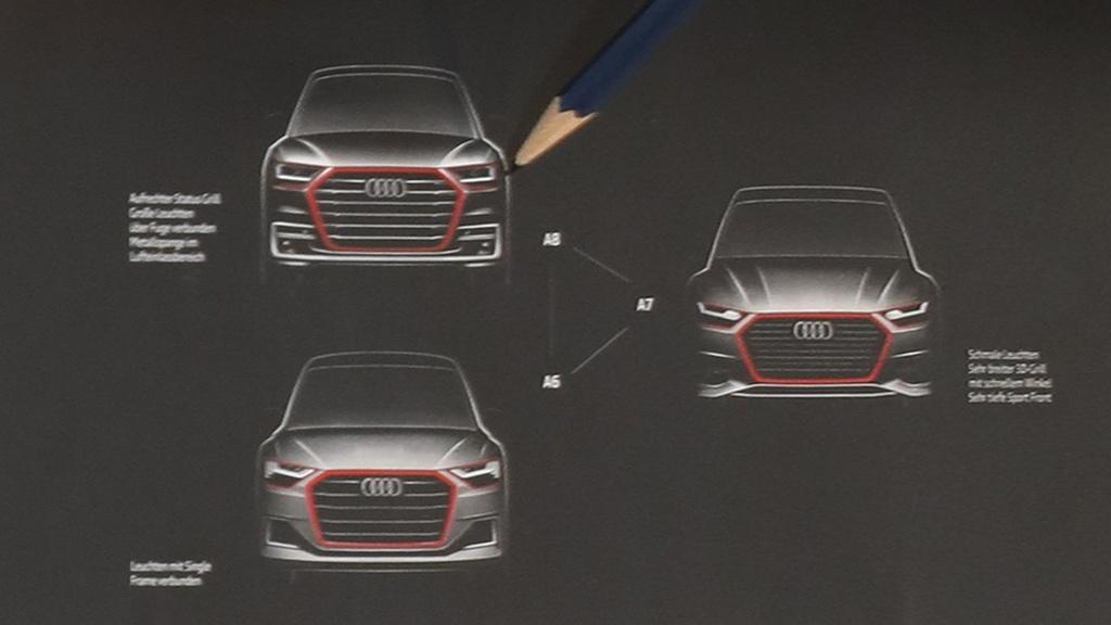 New Audi A6, A7, A8 - Official sketch
