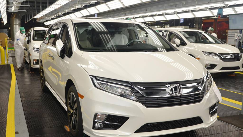 2018 Honda Odyssey enters production in Alabama