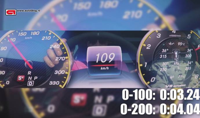 Mercedes-AMG E63 S - 0 to 186 mph
