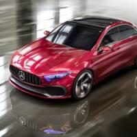 Mercedes Concept A sedan showcased in Shanghai