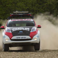 Nissan Leaf AT-EV is the first electric car to compete in Mongol Rally