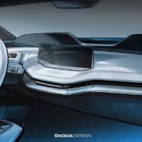Skoda Vision E Concept interior photos