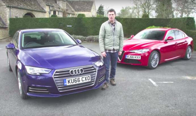VIDEO: New Alfa Romeo Giulia vs Audi A4