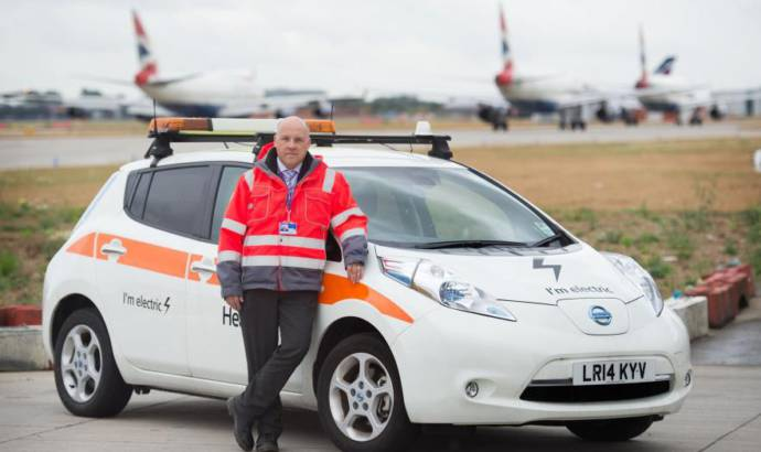 Heathrow airport will use a green fleet of Nissan Leaf