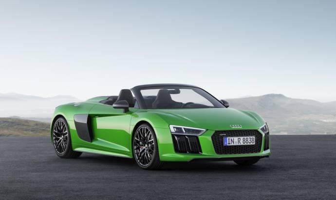 Audi R8 V10 Spyder Plus officially introduced