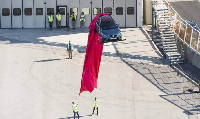 Seat Arona first public appearance was over Barcelona