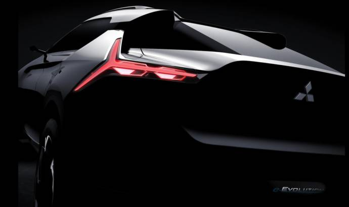 Mitsubishi e-Evolution Concept - First teaser picture with the upcoming flagship