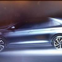 First teaser with the Volkswagen Virtus, the budget sedan