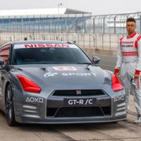 Nissan GT-R/C supercar driven with a remote control