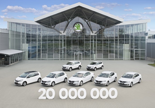 Skoda reaches milestone of 20 million cars produced