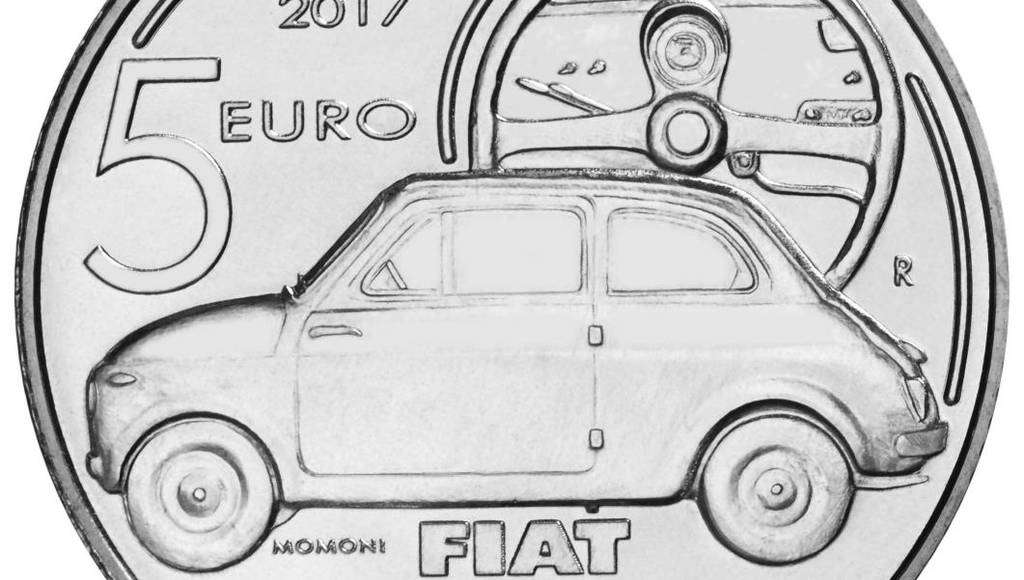 Special coin for Fiat 500 anniversary