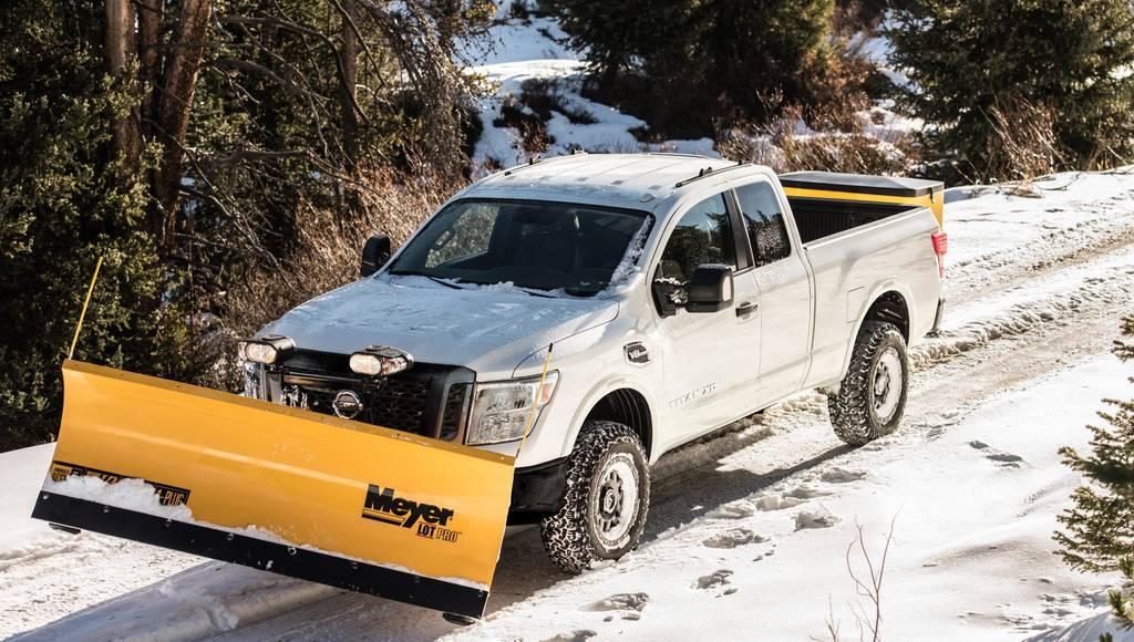 2018 Nissan TITAN XD already available with a snow plow
