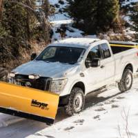 2018 Nissan TITAN XD already available with a snow plow