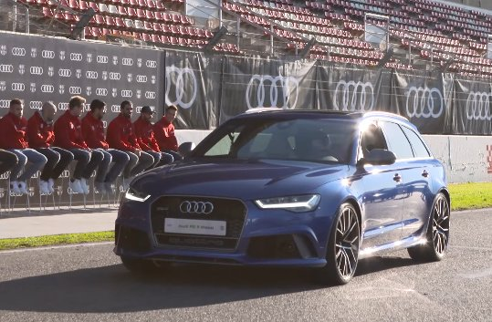 Barcelona players got their new Audis