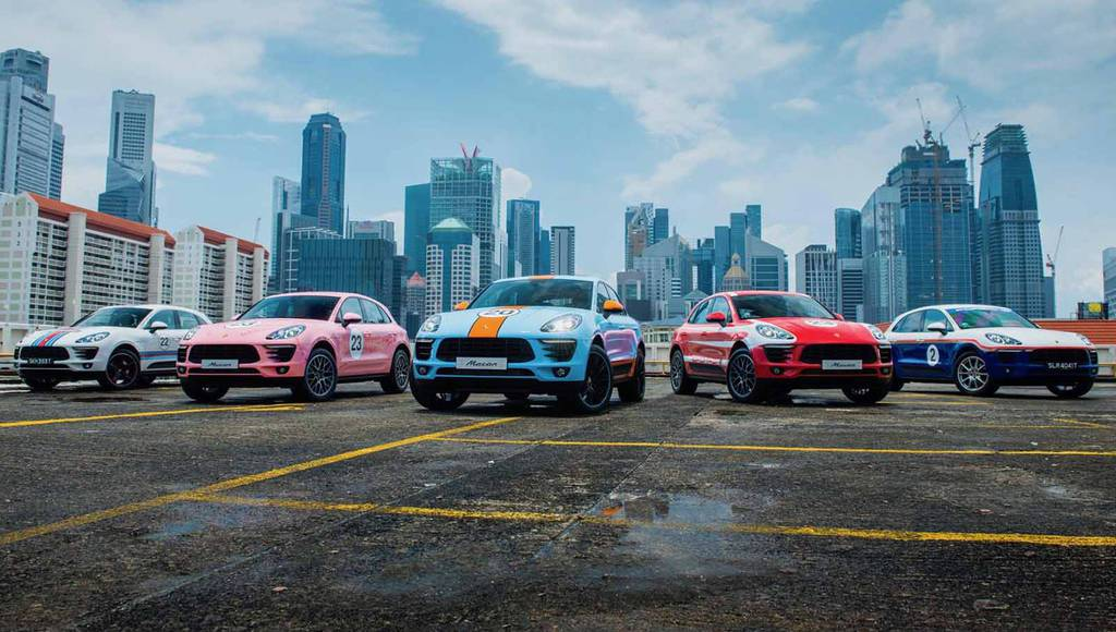 Porsche Macan got special livery in Singapore