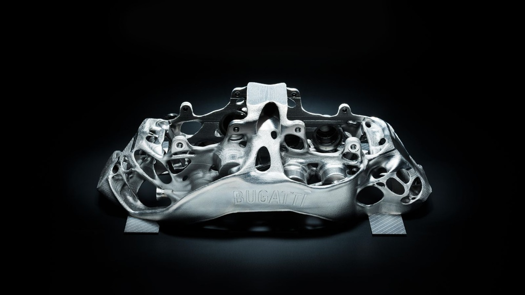 Bugatti Chiron brakes made with a 3D printer
