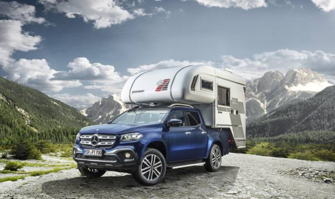 Mercedes-Benz X-Class transformed in two campers